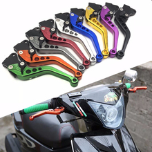 1Pair 9 Colors Motorcycle CNC Brake Clutch Lever Aluminum Alloy Handlebar Levers For Honda Grom MSX125 VTX1300 NC700 S/X short long brake clutch levers for honda vt1100c vt1300cx vt1300ct vt750c2b vtx1300 motorcycle adjustable cnc aluminum