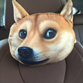 2016 Creative 3D Printed Dog Face Car Headrest Pillow Neck Auto Safety Pillow Arrival Activated Carbon Seat Covers Supplies