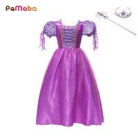PaMaBa Girl S Rapunzel Halloween Cosplay Costume Birthday Festival Outfit Children S Princess Dress Up Kids