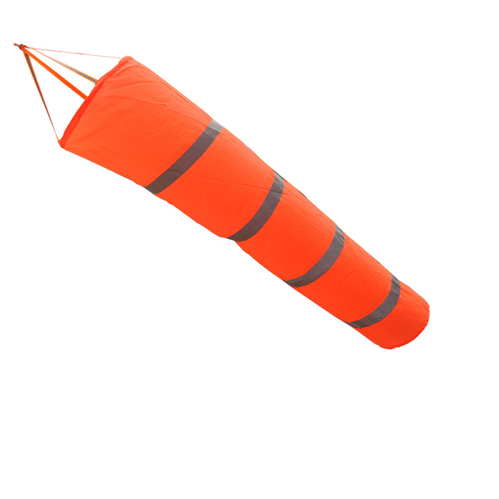 Wind Direction Windsock Aviation Professional Patio For Airport Outdoor Use Flag Rip-stop Reflective Belts Garden Random Color