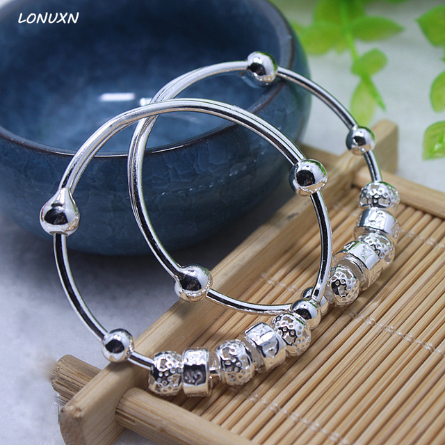 High Quality Bells 999 Stamped Sterling Silver Bracelet 925 Pure Chain Genuine Solid