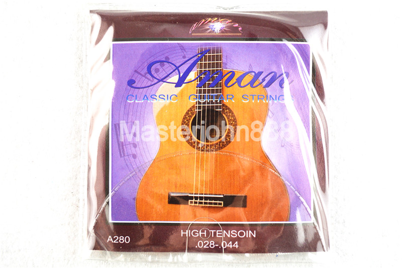 Aman A280 Classical Guitar Strings (028-044) High Tension Clear Nylon&Silver-Plated Cooper Wound Strings Free Shippng