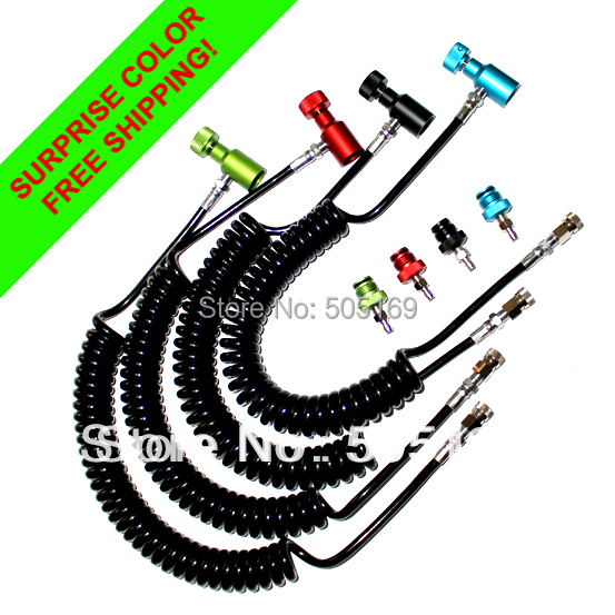 Coil Remote Hose Thick Line 3.5M With Quick Disconnect WITHOUT Slide Check(multi-color) Airsoft Paintball New Free Shipping