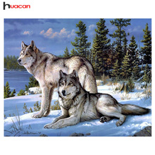 Håndverk Diamond Broderi Wolf Diy Full Diamond Painting Kit 30x40cm for Square Drill Rhinestone Pasted Unfinish Room Decoration