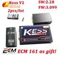 2 unids/lote V3.099 MAESTRO firmware KESS V2 OBD2 Gerente Sintonía Kit kess v2 v2.28 get free software ecm titanium kess3.099 dhl nave