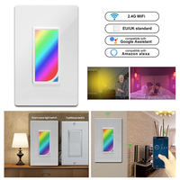 US Wifi Smart Home Light Dimmer Switch LED RGB Scene 1200 Colors Light Switch Compatible with Smart Life Tuya Google Home Alexa