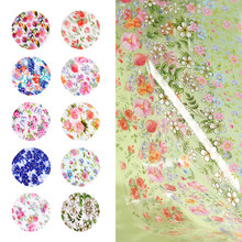 10pcs 4*50cm Flowers Nail Foil Rose Leaf Art Transfer Sticker Starry Paper Decorations Manicure Tools
