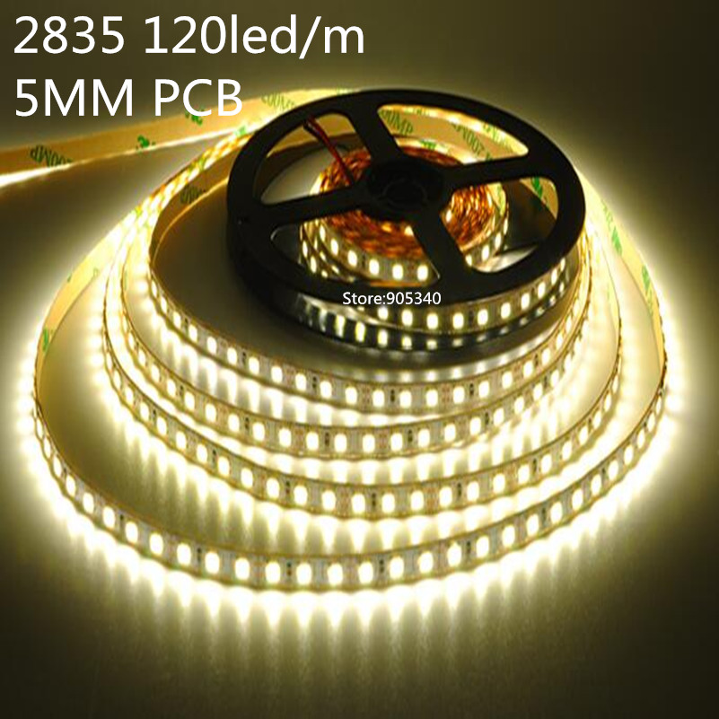 5mm PCB SMD 2835 120 leds / m DC12V Non impermeabile LED Light Strip - Illuminazione a LED