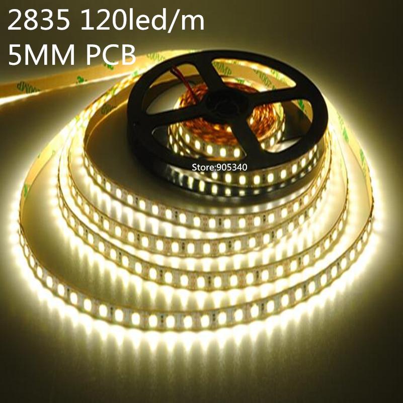 5mm-es PCB SMD 2835 120db / m DC12V nem vízálló LED-csík LED-es - LED Világítás