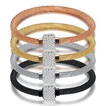 Titanium zircon magnetic buckle bracelet, women, fashion jewelry accessories wholesale,ZJ1013