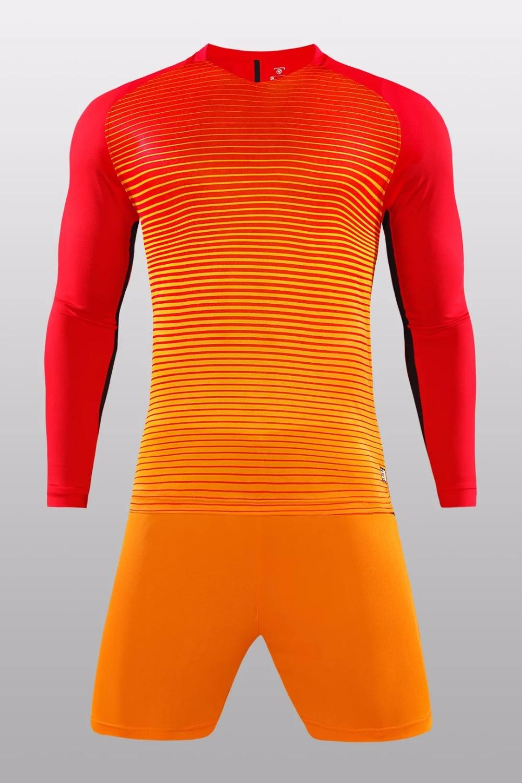 2018 conjunto completo de camisetas de fútbol de manga larga para adultos b2dcd350c0369