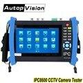 DHL libre IPC8600 7 pulgadas pantalla táctil probador CCTV 1080 p IP analógico Cámara probador con AHD CVI TVI SDI prueba de la Cámara opcional