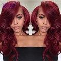 Burgundy Brazilian Virgin Hair Weave Brazilian Body Wave 99j Brazilian Hair Weave Bundles Red Ombre Human Hair Weave 3 Bundles