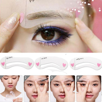 2019 Hot eyeliner 3pcs delineador ojos Exquisite Eyebrow ruler Grooming Shaping Card Kit Template eye brow Tooleye brow stencil