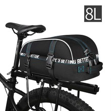 High Capacity Bike Bag MTB Road Mountain Outdoor Bicycle Backpack Polyster Cycling Rear Tail Trunk Bike Bags Panniers Riding Bag цена