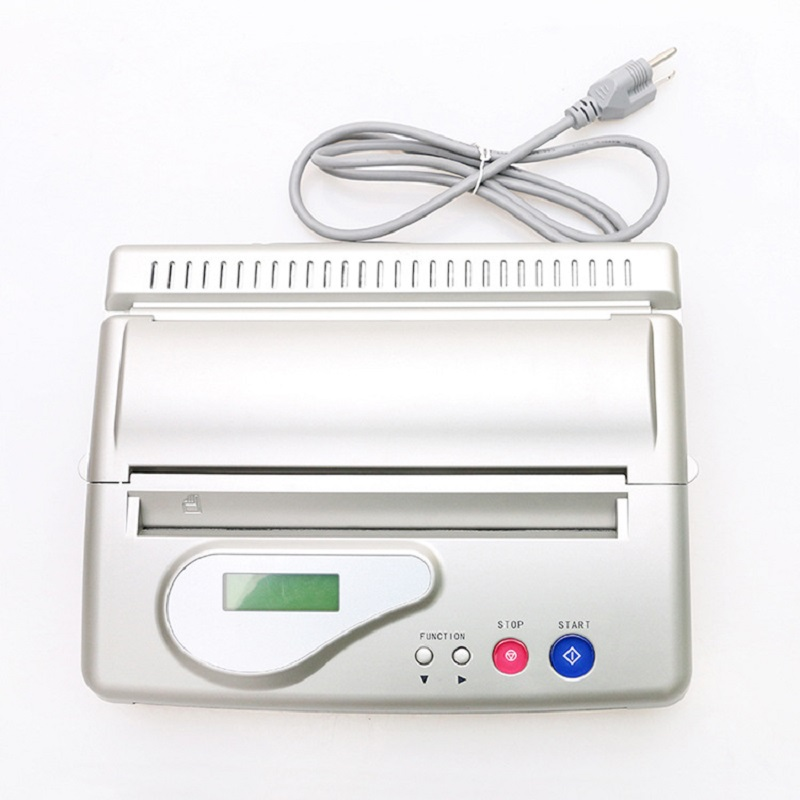 Silver USB Interf Tattoo Transfer Machine Printer Drawing Thermal Stencil Maker Copier for Tattoo Transfer A4 Paper Copy Supply