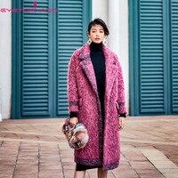 Женское Модное Длинное толстое шерстяное пальто desinger зимнее карманное повседневное свободное отложной воротник оверсайз шикарная кисточк
