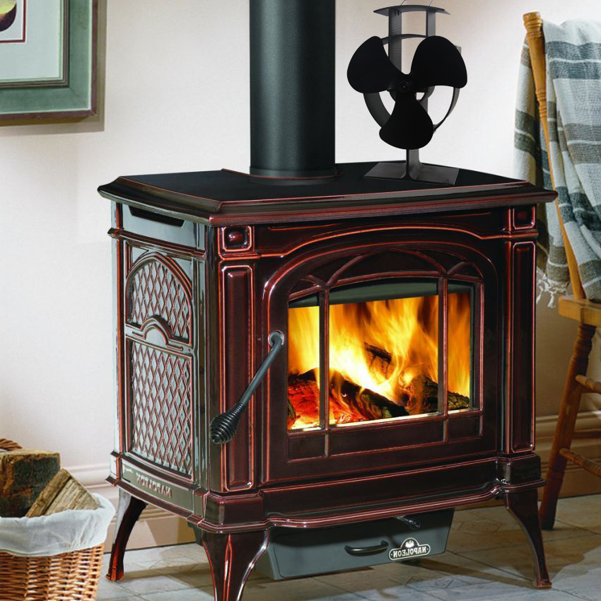Wood stove eco fan heat powered ultra quiet triple blade for Blower motor wood stove