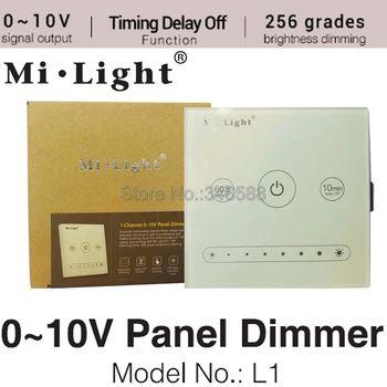 Milight L1 1-Canal 0 ~ 10 v Painel Painel de Toque Dimmer Brilho Ajustável Controlador LED para Única Cor luz de Tira CONDUZIDA