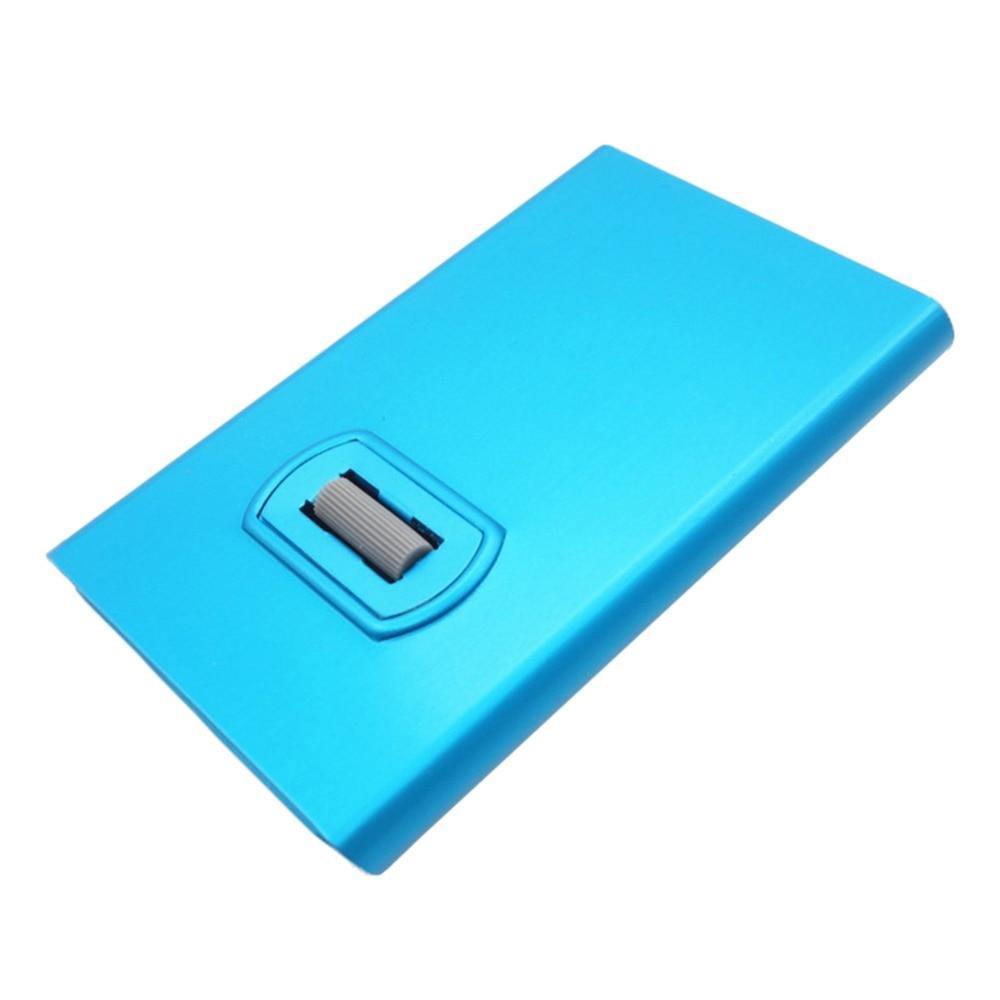 Artmi Kreditkorthållare med Spining Button RFID Aluminum Stilig Card - Plånböcker - Foto 1