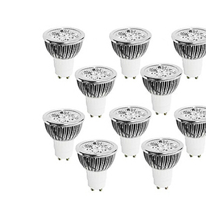 10 Pack.Dimmable GU10 4W 400LM