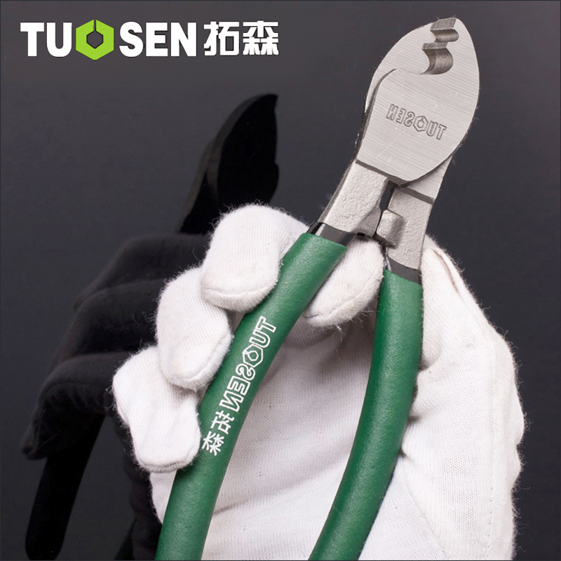TUOSEN Wire Cable Cutter Pliers Cutting Electrician Wire Stripper For Electricians Multi Tool Hand Tools 3 in 1 multi tool automatic adjustable crimping tool cable wire stripper cutter peeling pliers repair hand tools diagnostic tool