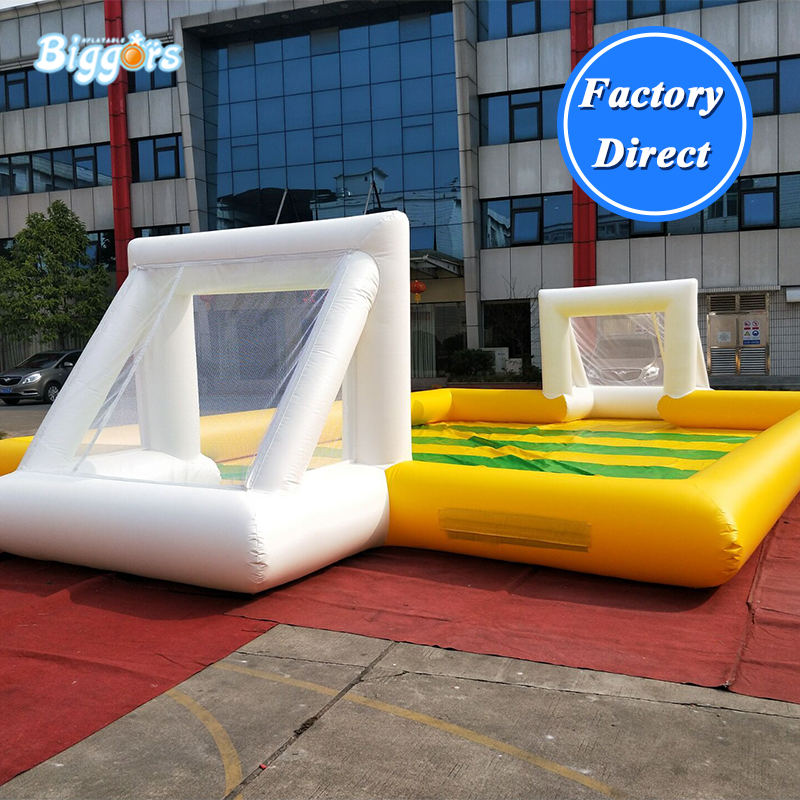 Cheap inflatable football pitch inflatable stadium pitch with air blowers