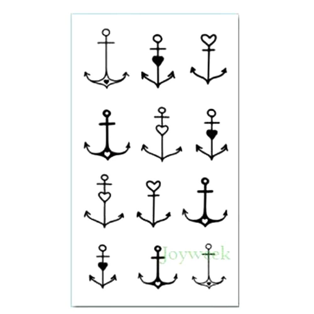 Waterproof Temporary Tattoo sticker cute small anchor tatto stickers flash tatoo fake tattoos for kids girl child basic pump