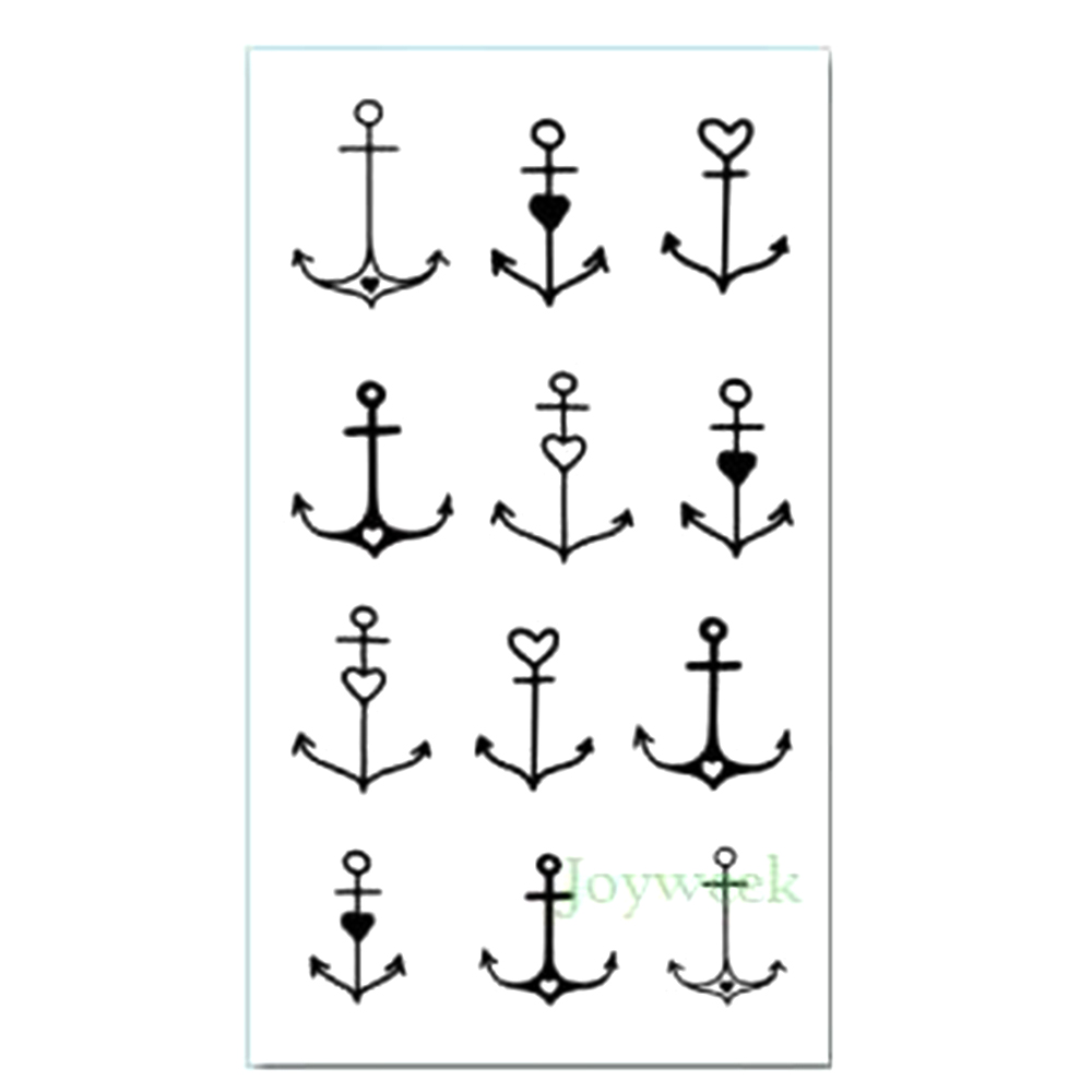 Waterproof Temporary Tattoo Sticker Cute Small Anchor Tatto Stickers Flash Tatoo Fake Tattoos For Kids Girl Child