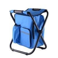 Foldable Backpack Chair Insulated Cooler Bag for Fishing Camping Picnic Beach