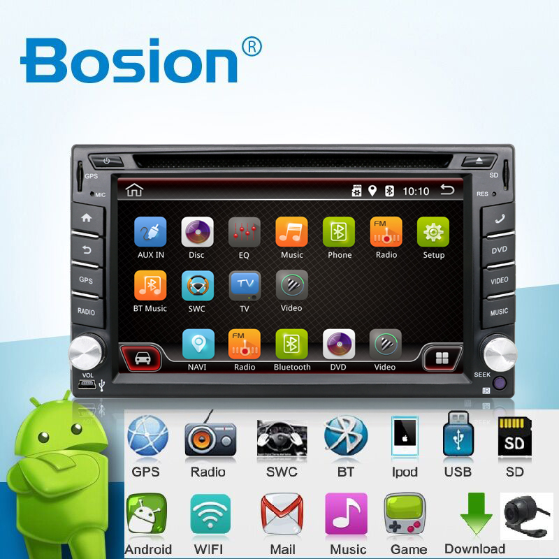 Universal 2 din Android 4.4 Car DVD Player GPS+Wifi+Bluetooth+Radio+Quad Core CPU+DDR3+Capacitive Touch Screen+3G+Car PC+Audio android 5 1 car radio double din stereo quad core gps navi wifi bluetooth rds sd usb subwoofer obd2 3g 4g apple play mirror link