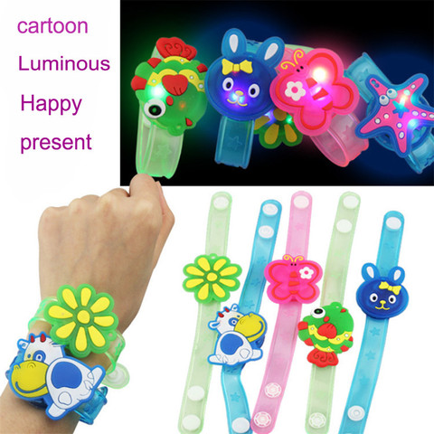 2018 Multicolor Light Flash Toys Wrist Hand Take Dance Party  High Quality Dinner Party Gift For Kid Random LED ColorLamps Light Lahore