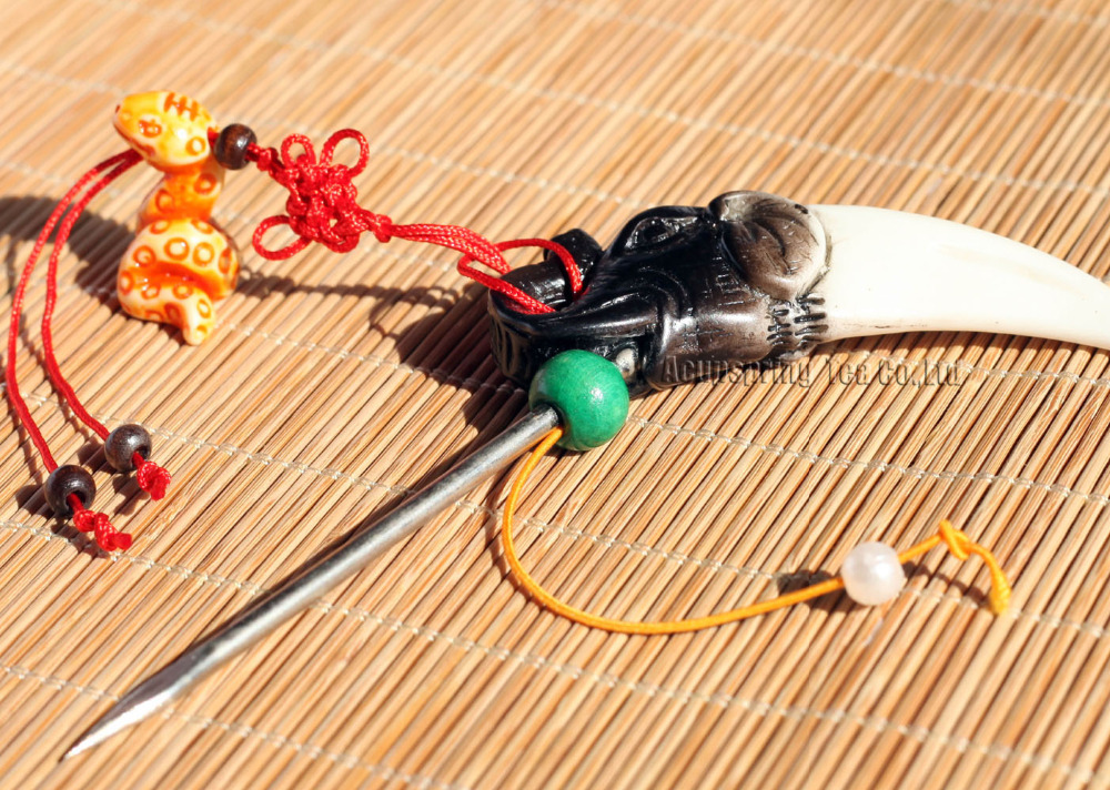 Unique Tea Needle/Knife/Cutter,For making Ripe/Raw Puerh tea,Puer tea accessories,Bone arts,with Secret gifts