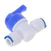 1/4 valve valve inline nova válvula de esfera conexão rápida cortada para a osmose reversa da água do ro Peças p/ filtro de água     -