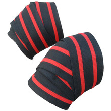 Elastic Knee Wraps for Powerlifting, Weightlifting – Ultimate Knee Support,Effectively Avoid Injury While Training