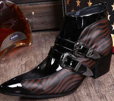 Zerba Drucke Männer Aus Echtem Leder Kleid Martin Stiefel 2018 Neue Handgemachte Mode Arbeit Militär Stiefeletten Winter Oxfords Schuhe