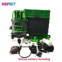 XEAST XE-11A Verde medidor de nivel láser de 3 Líneas de 360 grados rotativo cruz nivel láser de línea puede ser utilizado al aire libre con modo