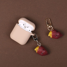 Baked sweet potato decoration Silicone Case for Apple Airpods Bluetooth Wireless Earphone Airpods Headphone Protective  Bag цена и фото
