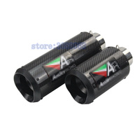51mm 61mm Universal Motorcycle Exhaust Muffler Modified Exhaust Stainless Steel Carbon Fiber Fit Most Motorbike Harley