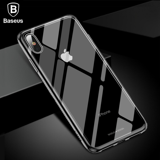Baseus iPhone XS XS Max XR Luxury Tempered Glass Protective Back Case Cover