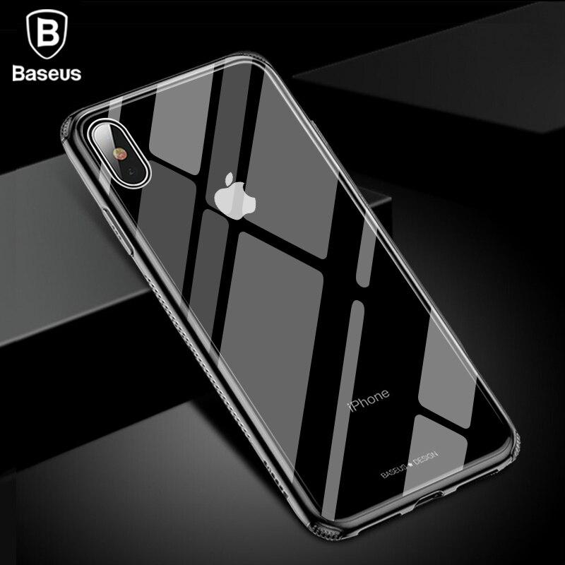 Baseus Luxus Glas Fall Für iPhone XS Max Xr TPU Rand Gehärtetem Glas Fällen Zurück Schutzhülle Coque Für iPhone xsmax Fundas