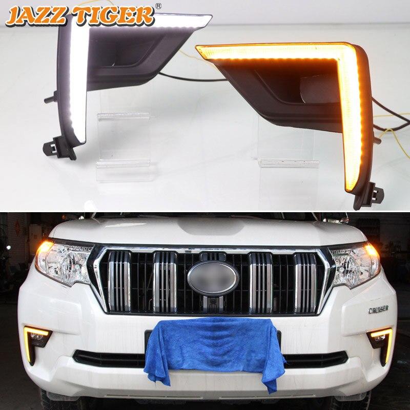 JAZZ TIGER Flowing Turn Signal Function 12V Car DRL Lamp LED Daytime Running Light For Toyota