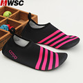 MWSC 2017 New Design Women Sandals Shoes Unisex Striped Sock Slippers Summer Beach Casual Water Aqua Shoes