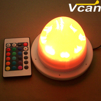 RGB battery operated led lighting lamp for flower pot vase planter inside various plastic furniture to party and garden