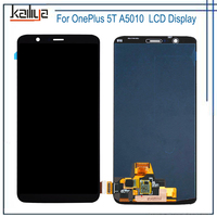 For One Plus 5T LCD Display+ 6.01'' Touch Screen Digitizer Senor Mobile Phone Assembly Glass Lens and LCD Replacements Black