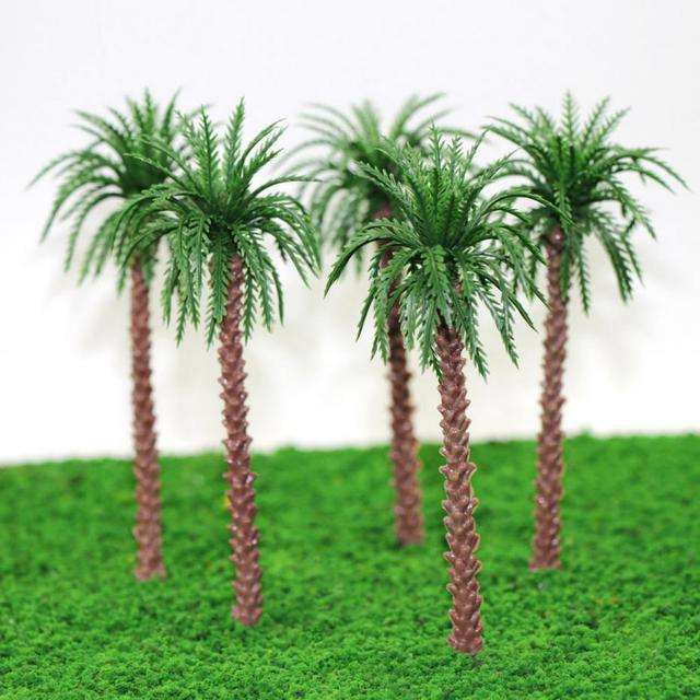 YS02 20pcs 45mm-170mm Height Model Palm Trees Model Layout Train Scale 1:400-1:50 Z HO Scale NEW 2