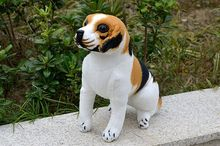 simulation animal Squatting pose beagle dog about 28cm plush toy, birthday gift h525