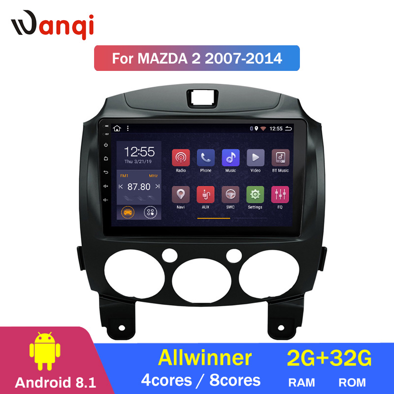 2G RAM 32G ROM Android 8.1 car multimedia player For Mazda 2 2007-2014 gps navigation stereo radio wifi video player2G RAM 32G ROM Android 8.1 car multimedia player For Mazda 2 2007-2014 gps navigation stereo radio wifi video player
