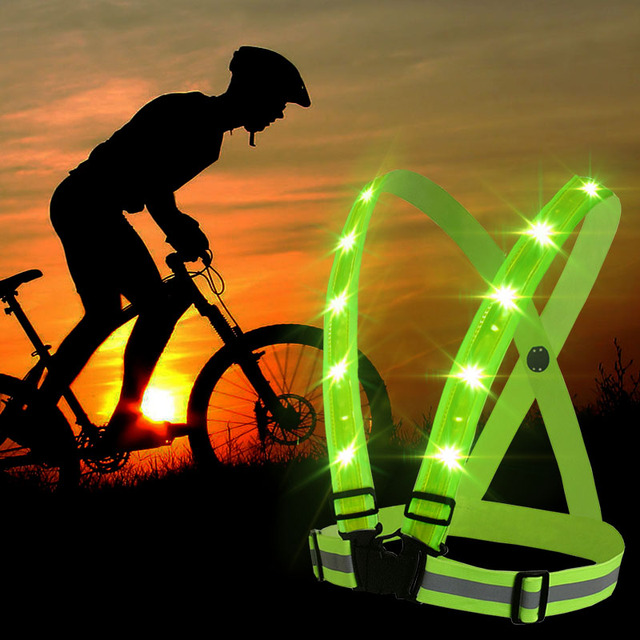 Outdoor Sport Running Lights Vest LED Warning Chest Light Hiking Cycling  Flashlight USB Charge Lamp White Light Safety Clothing 921331468c0a