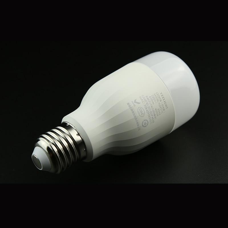 imágenes para 8 W Yeelight E27 Mi Fuente de Luz Original de Color Blanco LED Bombilla inteligente Smartphone App WIFI de Control Remoto Smart Home Uso luz